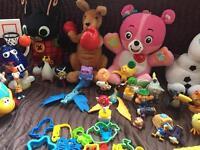 Bundle of toys n table