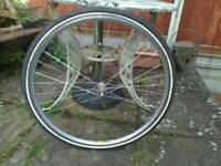 "28"" front wheel with tube+ tyre."