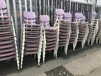 Stackable kids / teen school chairs job lot or individually sold over 100 in stock