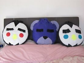 NEW childs bed/chair cushion - large fleece animal face