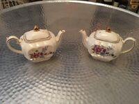 For Sale x 2 Sadler cube Teapots
