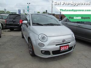 2012 Fiat 500 Sport * LEATHER * POWER ROOF