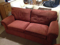 Red double sofa