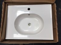 Oval Recessed Basin Acrylic Resin