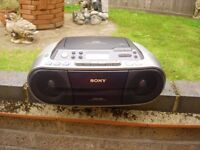 SONY model CFD-S01 CD/RADIO/CASSETTE Recorder
