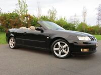 2005 SAAB 9-3 1.8 T 150 BHP (( 4 SEATER CONVERTIBLE WITH POWER HOOD )) 88000 MILES