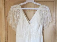 Jenny Packham silk 'Tilly' wedding dress. Altered to fit a small busted size 8. Some signs of wear.