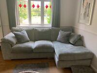 Next Stamford corner sofa , arm chair and foot stool