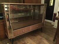 Large 1960's mirrored glass display cabinet