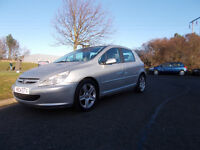 PEUGEOT 307 D HDI DIESEL HATCHBACK 5 DOOR SILVER 2004 FULL MOT BARGAIN ONLY 650 *LOOK* PX/DELIVERY