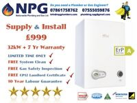 Combi Boiler + Supplied & Fitted + 7 Years Warranty £999 Ferroli Modena 32kW ErP A Rated Midlands