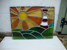 Stained Glass Scenic window