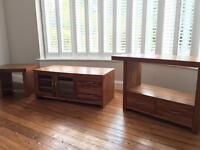 3 piece Acacia wood living room set for sale