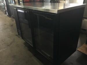 59 inch True undercounter 2 door glass beer fridge model TBB-2G-LG like new only $1895!