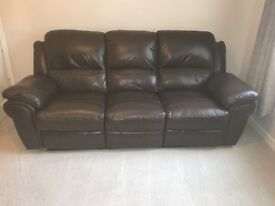 2 and 3 leather recliners