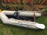 Inflatable boat and 3.5hp engine