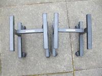 APOLLO SPEAKER STAND PAIR wheels + spikes