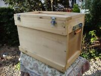 Heavy Duty Timber Storage Box. Approx 21 x 14 x 12 Inches.