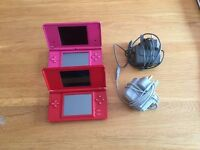 NINTENDO DSI & DS - PINK & RED