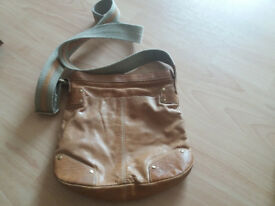 Next tan small leather cross over bag