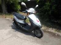 SYM 50cc AUTOMATIC SCOOTER / MOPED. ONLY 3300 MILES.