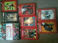 Marvel encoylopeia and hardback books