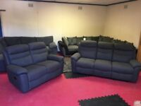 CONWAY (Textured Fabric) 2 And 3 Seater Reclining Sofas EX DISPLAY