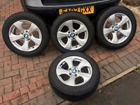 GENUINE BMW ALLOY WHEELS AND RUN FLAT TYRES. 3 SERIES 2013 EXCELLENT CONDITION