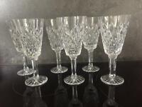 Tyrone Crystal Red Wine Glasses x 6