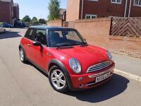 2007 MINI COOPER 1.6 CHILLI PACK RED BLACK ROOF 1 OWNER LONG MOT HALF LEATHERS ALLOYS GOOD RUNNER