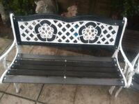 Beautiful Heavy Cast Iron Garden Bench