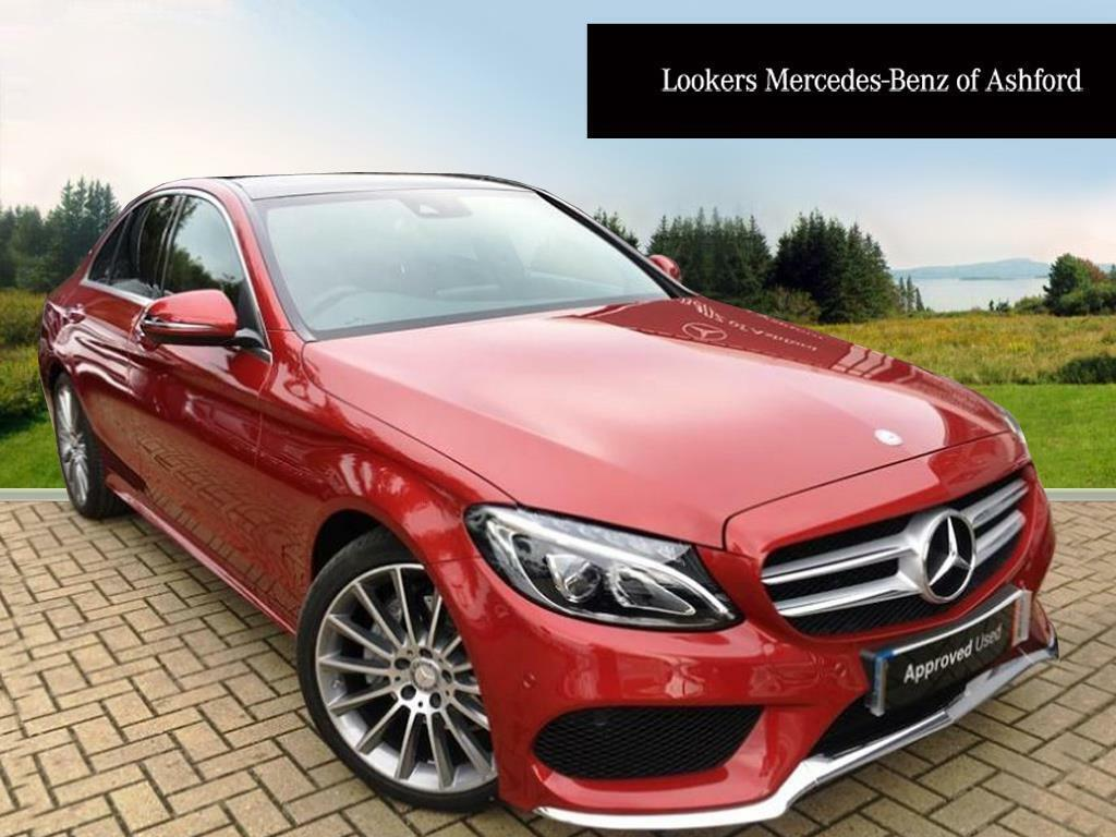 mercedes benz c class c 220 d amg line premium plus red 2017 09 01 in ashford kent gumtree. Black Bedroom Furniture Sets. Home Design Ideas