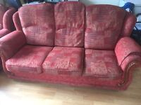 Solid sofa and 2 Arm Chairs for sale