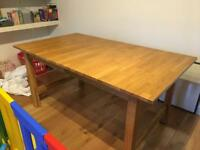 MUST GO Solid oak ikea extendable dining table