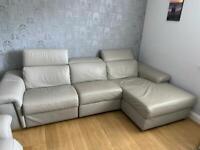 Italian grey leather suite