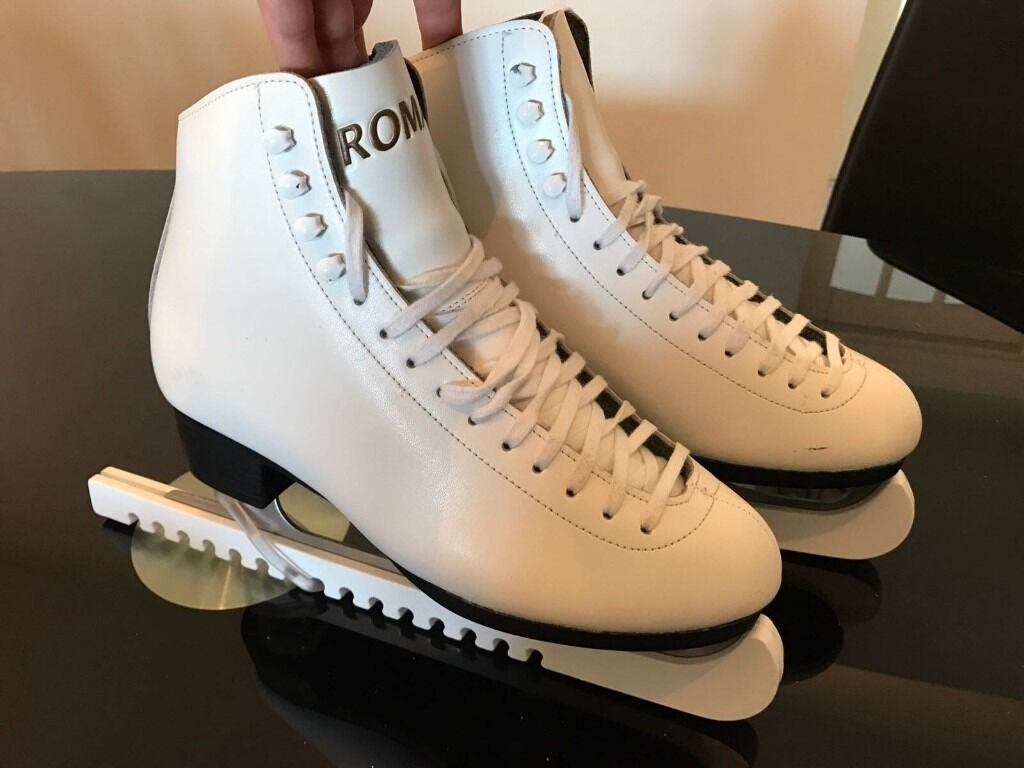 Roma Womens or Girls White LeatherS Ice Skates Size 7-88 | in ...