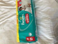 New size6 pampers pull ups x52