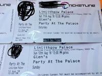 Two tickets for sat or sun Party at the palace only £40 the pair