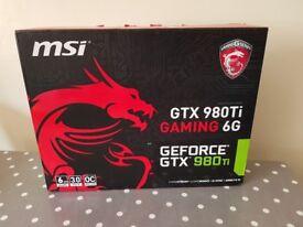 Nvidia 980ti MSI 6gb Graphics Card