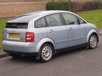 AUDI A2 1,4 TDI 52 REG BLUE 5 SPEED 5 DOOR HATCHBACK FULL 12 MONTHS MOT £30 TAX VERY CLEAN MAY P/X