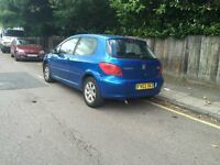 Peugeot 307 for sell, MOT, One former owner, some service history.