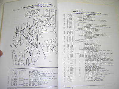 John Deere 20 M20 Mowers Parts Catalog Manual