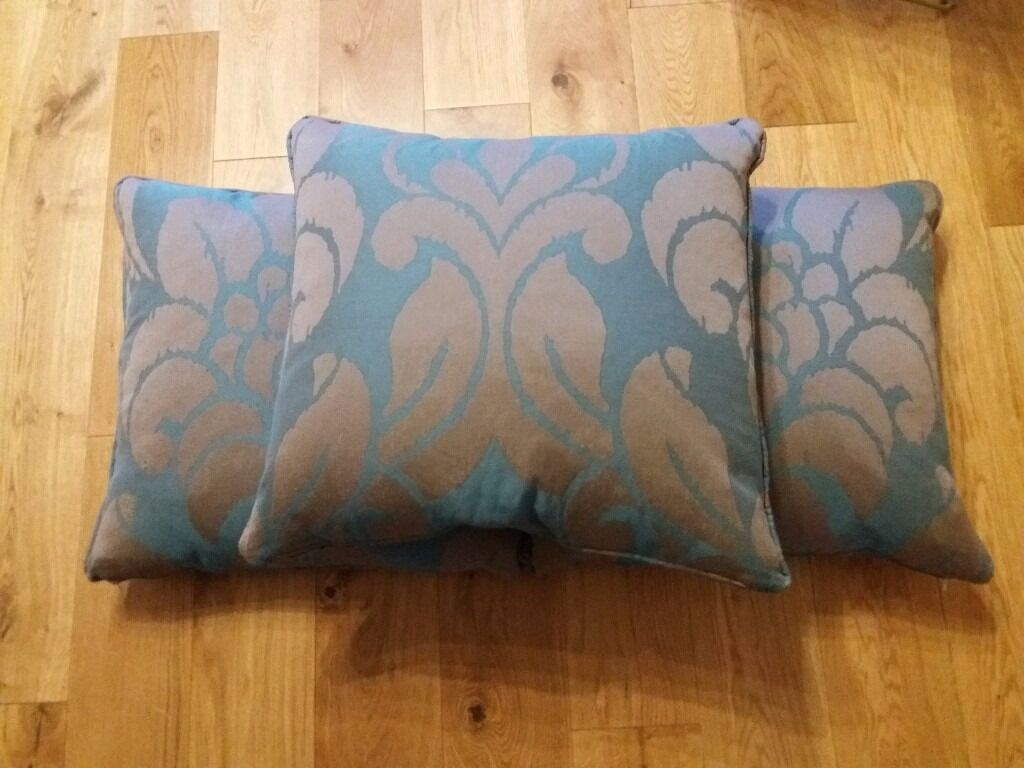 X Furniture Village Cushions Brand New Inches Teal Brown In