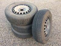 175/65 R 14 Winter Tyres on Steel Wheels