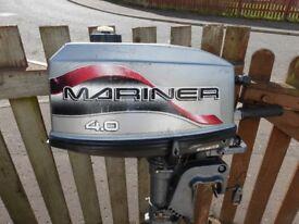 mariner outboard 4 hp 2 stroke f .r gears all working fine ,runs great