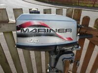 mariner outboard 4 hp 2 stroke f .r gears all working fine ,runs great
