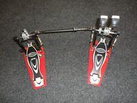 Millenium PD 222 Pro series double bass drum pedal - excellent condition