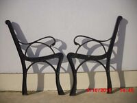 Vintage cast iron ends for garden bench