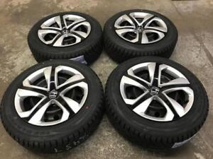 "16"" STOCK HONDA CIVIC wheels and caps with 205/55R16 winter tires"
