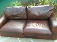 VINTAGE TANNING COMPANY HALO LEATHER SOFA FAB CONDITION
